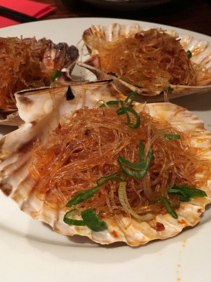 Spicy Steamed Scallops with Vermicelle