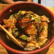 Chicken Katsu & Salmon   Tanakatsu   Yvanne Teo