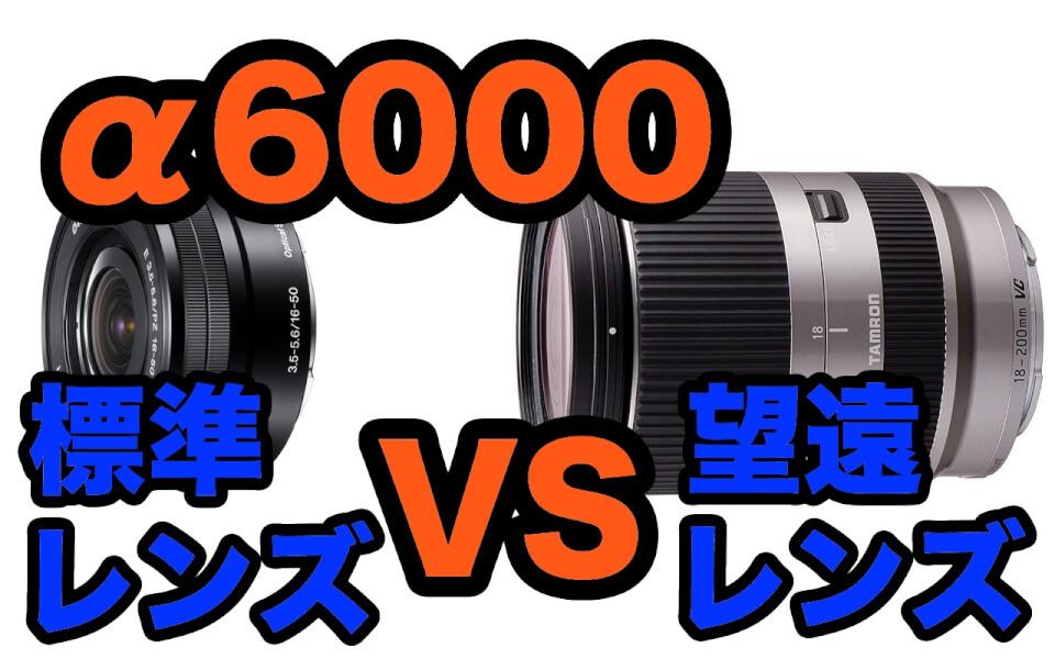 【比較レビュー】SONY α6000で標準レンズとTAMRON望遠レンズ 18-200mm F3.5-6.3を比べてみた
