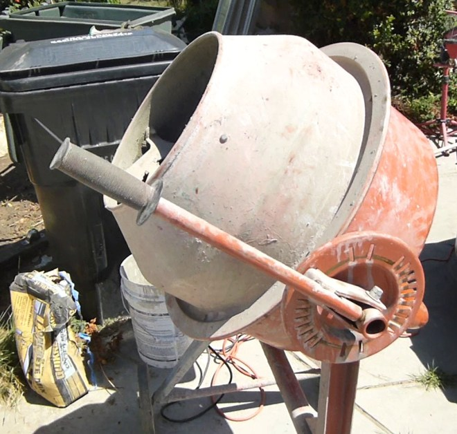 Cement mixer I purchased from craiglist.