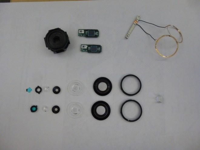 Ricoh Theta Panorama Camera optical / image sensor disassembled parts。