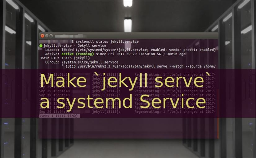 Make `jekyll serve` a systemd Service