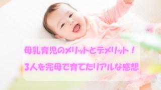 母乳育児のメリットとデメリット!3人を完母で育てたリアルな感想