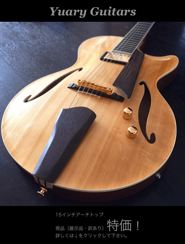 15インチ アーチトップギター 現品特価販売!