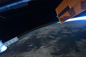 An image of a Perseid seen from above, made by astronaut Ron Garan from the International Space Station in August 2011. Photo: Ron Garan / ISS Expedition 28 Crew / NASA