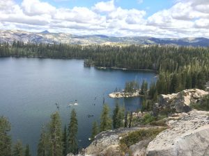 Sterling Lake is one of three high country lakes recently protected in the Sierra Nevada by Bear Yuba Land Trust with a conservation easement on PG&E land. Photo Credit: Erin Tarr