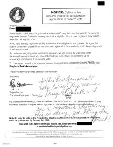 The VPC notice sent to a Nevada County resident.