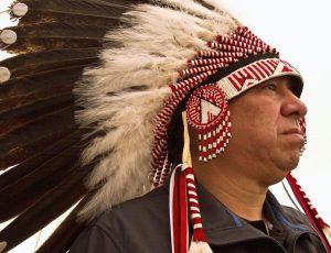 Chief Stanley Grier of the Piikani Nation. Native News Online.net