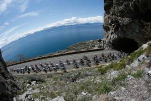 Amgen Tour of California announced the return of professional cycling to Lake Tahoe for the women's Stage 1 and Stage 2, May 11-12, 2017. Courtesy of Tahoe South
