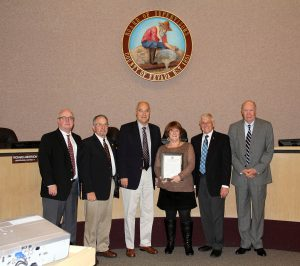 CNL Board Chair Bavo and the Nevada County BOS. Photo: YubaNet
