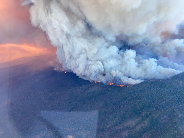 McFarland Fire From the Air