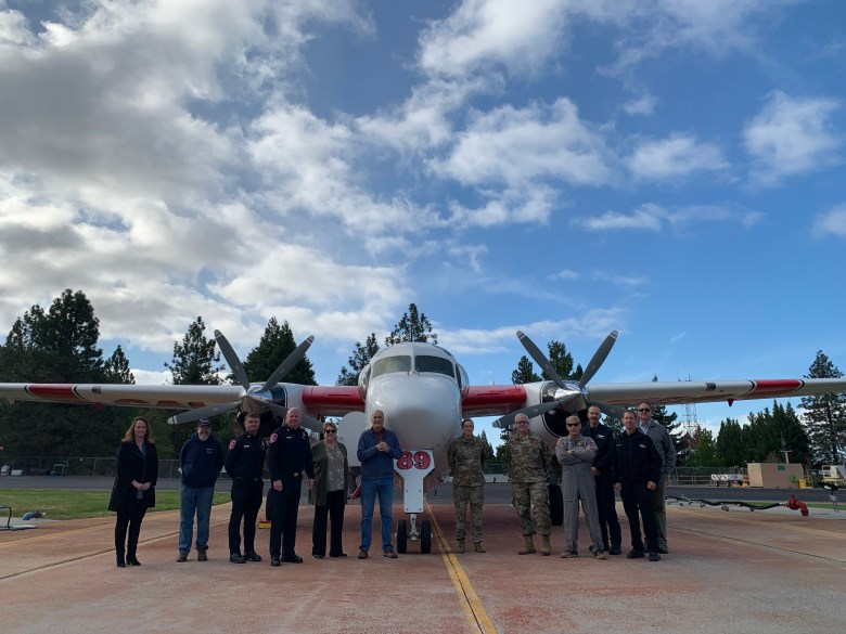 Tanker 89 at the GVAAB served as the backdrop for this group photo