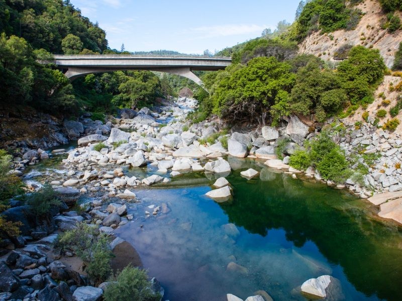 South Yuba river at the Hwy 49 crossing