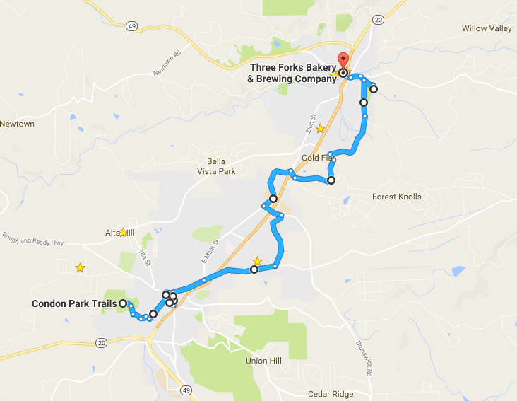 Yuba River Bicycle Music Festival - Route