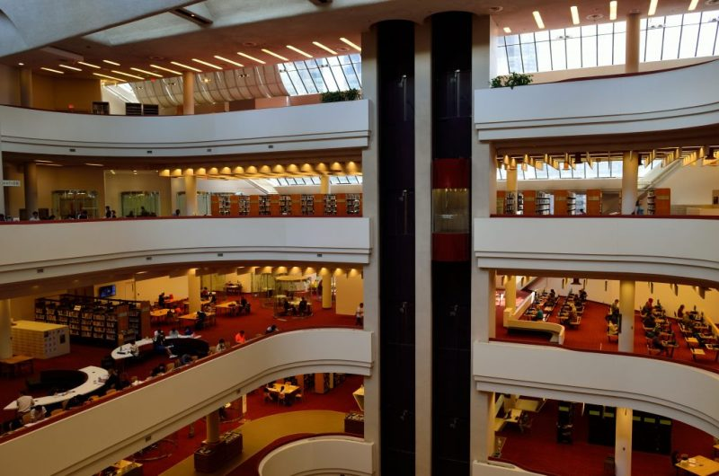 Image of the Toronto Reference Library from inside on the fourth floor by the Toronto Reference Library from Flickr.