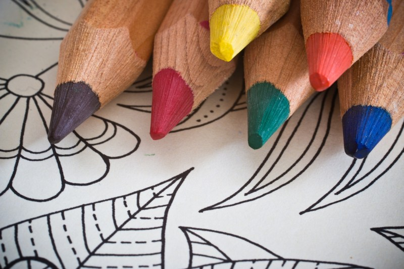 A photo of colouring pencils.