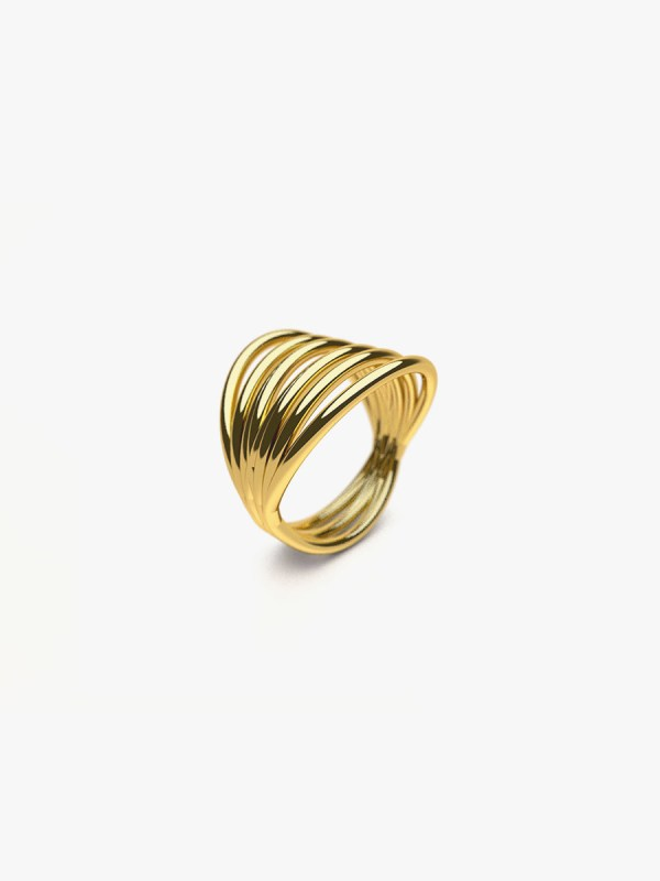 Personalised unique gold ring for Rahel Chiwitt