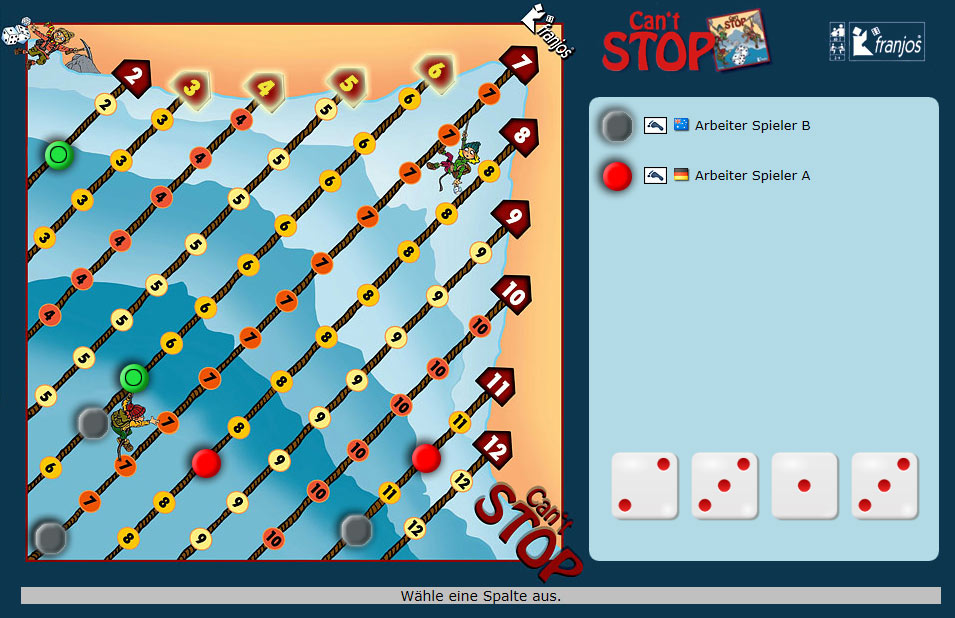 Yucata  Rules For The Game 'can't Stop