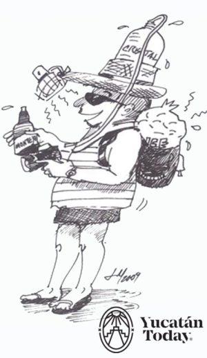Calor caricatura Juan Manuel Mier y Teran