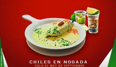 Chile en Nogada en La Recova