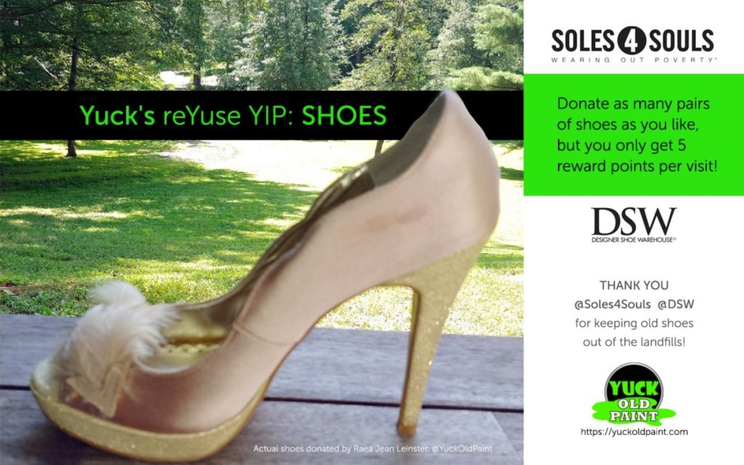 Donate your gently used shoes…
