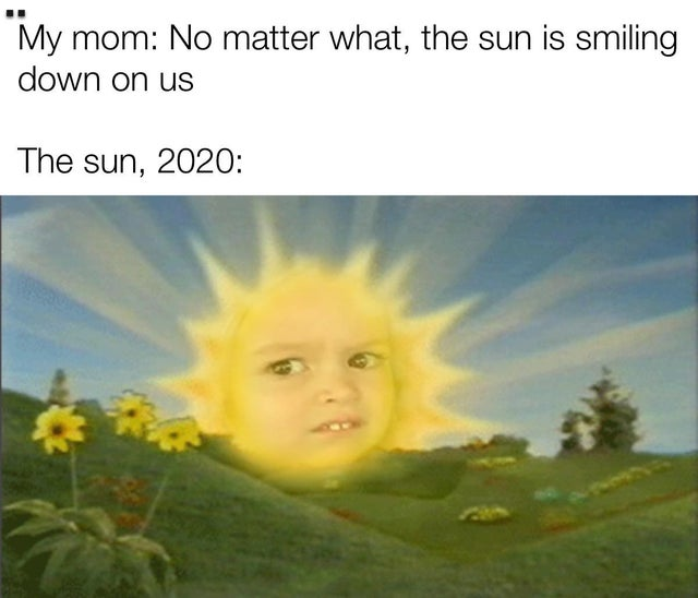 The sun in 2020