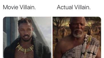 Black Panther - Movie Villain vs Actual Villain