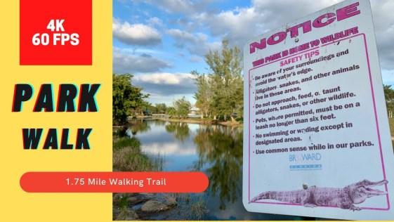4K Nature Walk in the Park - C. B. Smith Park (4K 60FPS)