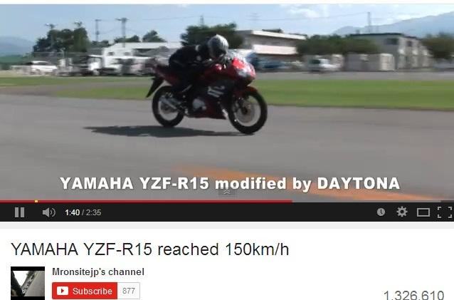 top speed R15 Daytona 2