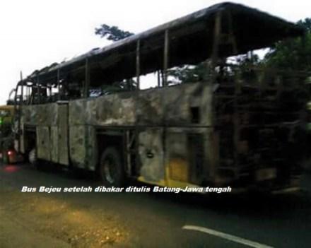 Bus Bejeu dibakar diBatang 1