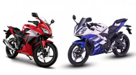 Honda CBR150 dan Yamaha-R15