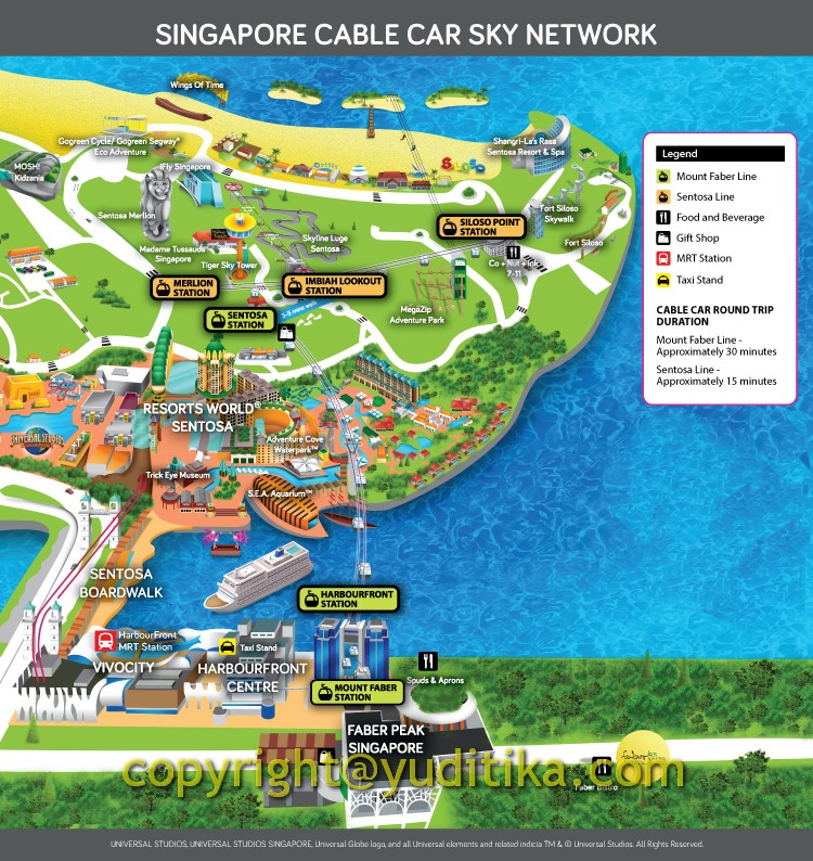 singapore cable car map