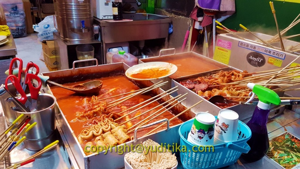 fish cake korean street food di dongdaemun