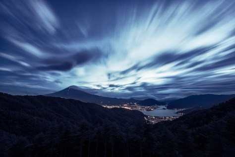 Yuga kurita Mount Fuji Long Exposure Night