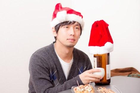 クリスマスは酒瓶と一緒に