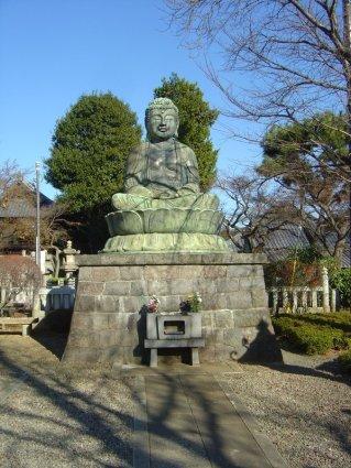 かつて筑波山千手堂(現・神社拝殿)の北側にあった露坐仏