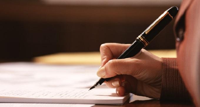 ペン書きで遺言書