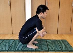 足関節の柔軟性テスト