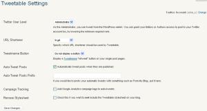 Tweetable 設定画面