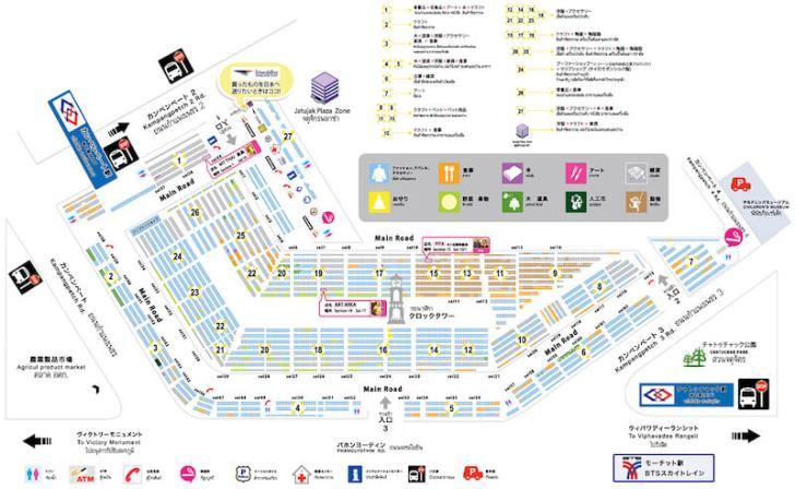 チャトゥチャックマーケットの地図