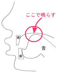 口笛の舌の位置