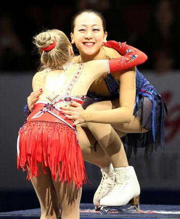 NHK杯2013浅田選手とラジオノワ選手2
