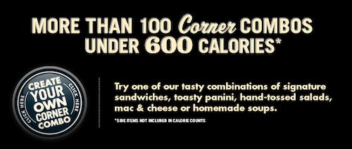 Corner Bakery Healthy Menu