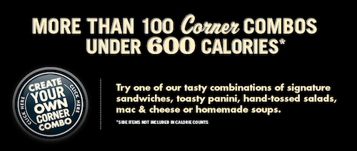 Corner Bakery Healthy Menu