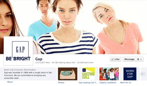 Gap Facebook