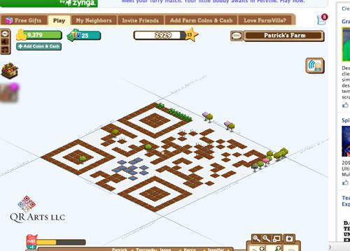 Farmville Gamification QR Code