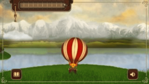 Screenshot of Balloon rising in Momentum by Mindbloom