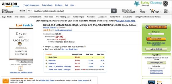Amazon product listing Screenshot