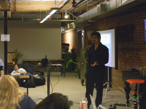 Yu-kai presenting in front of a captive audience at his Advanced Octalysis Gamification Design Workshop