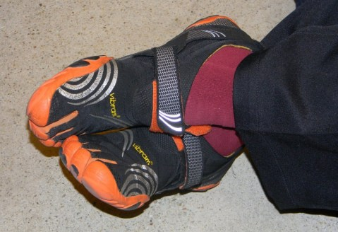 Yu-kai's awesome shoes while he relaxes at his Advanced Octalysis Gamification Design workshop